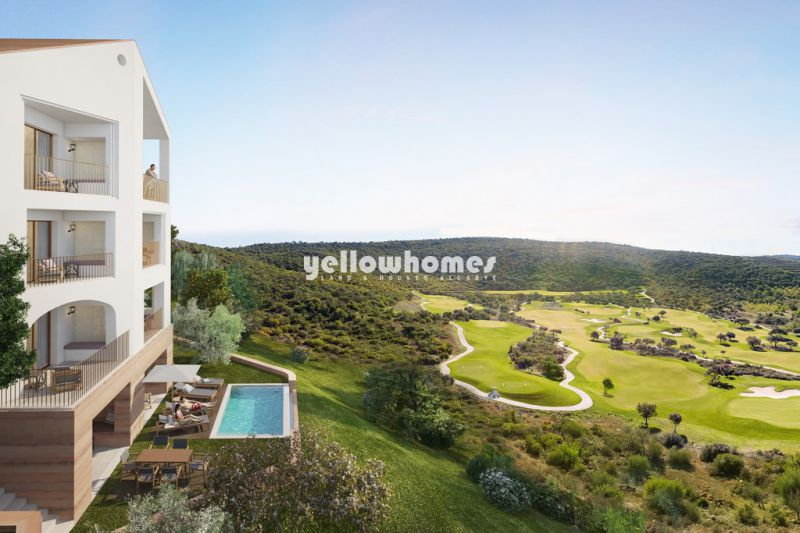 Luxury 1 bed apartments on the 3rd floor in newest golf resort near Loule